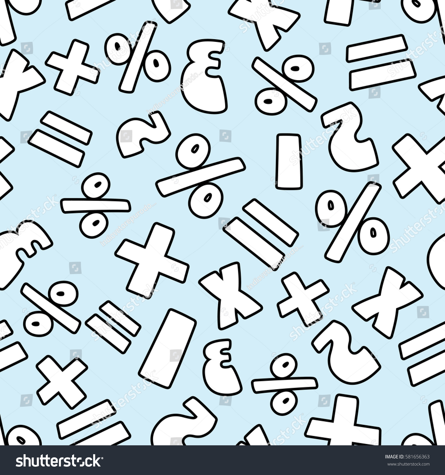 Cute Mathematics Background Stock Vector (Royalty Free) 581656363 ...