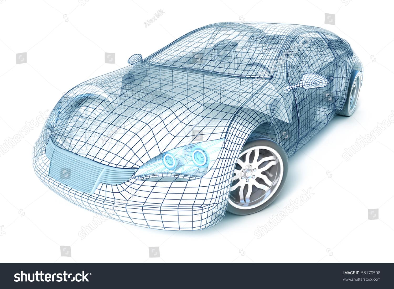 Design of car model - Car Design Wire Model My Own Design