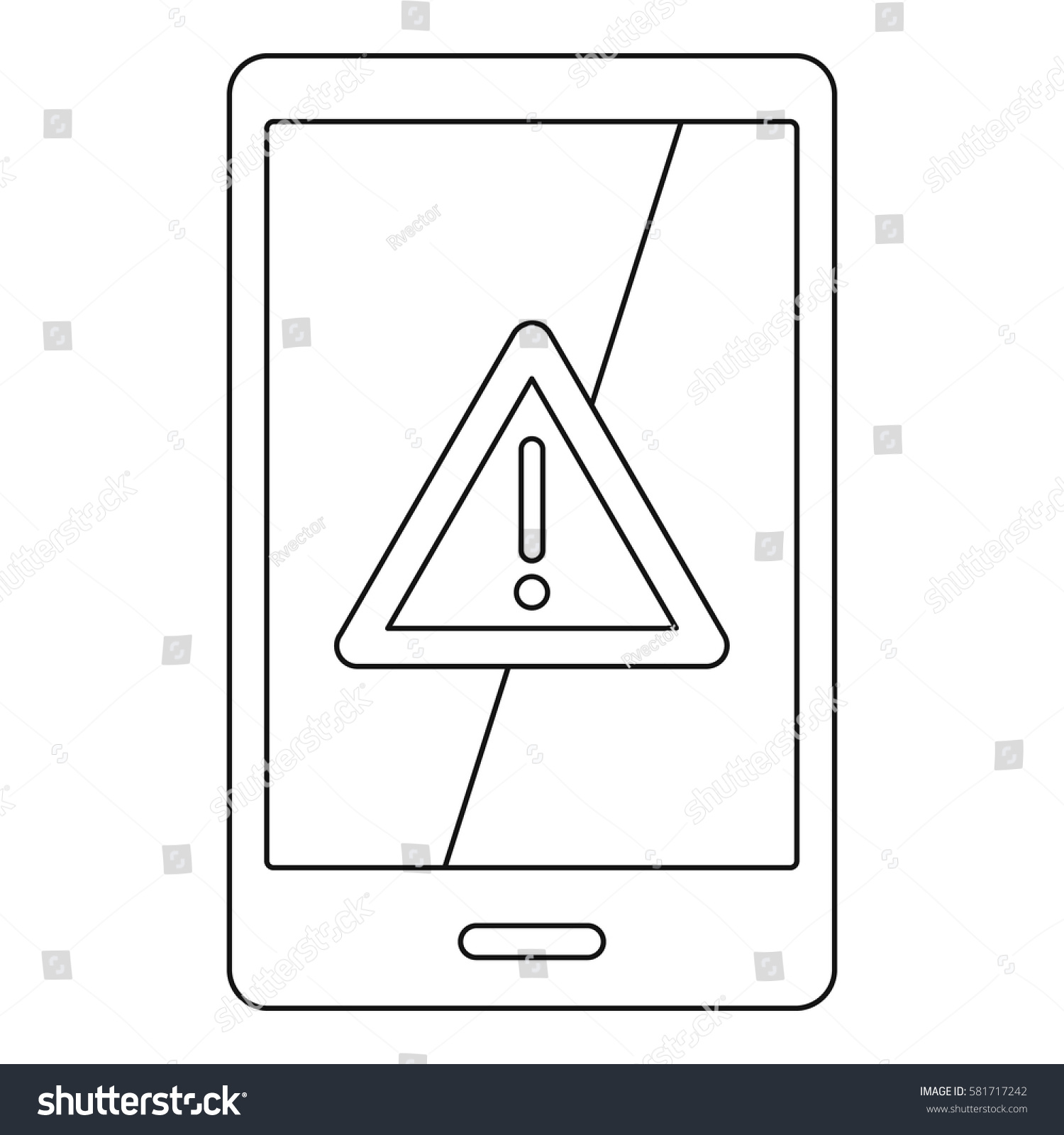 Not Working Phone Icon Outline Illustration Stock Vector 581717242 - Shutterstock