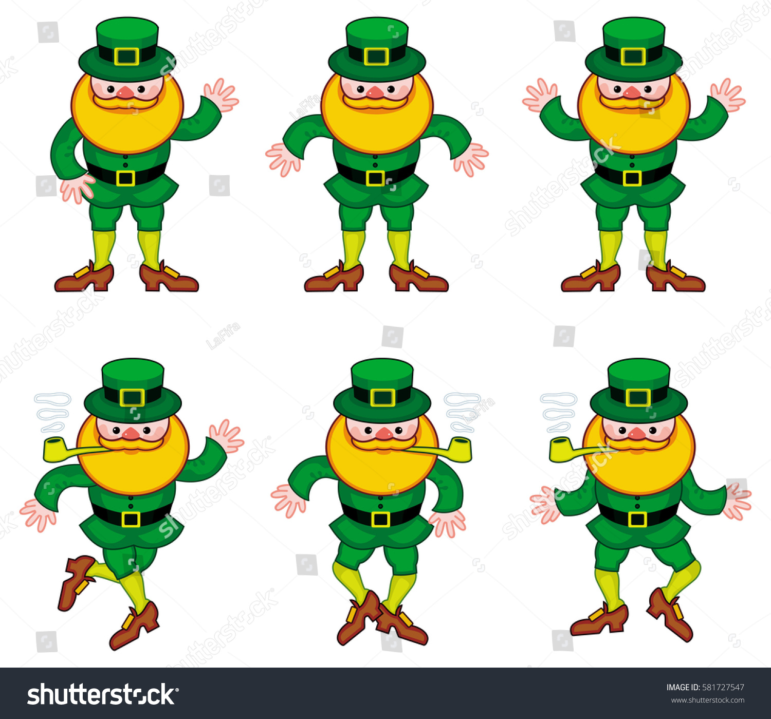 Uncategorized Dancing Leprechauns dancing leprechauns isolated on white raster stock illustration a clip art