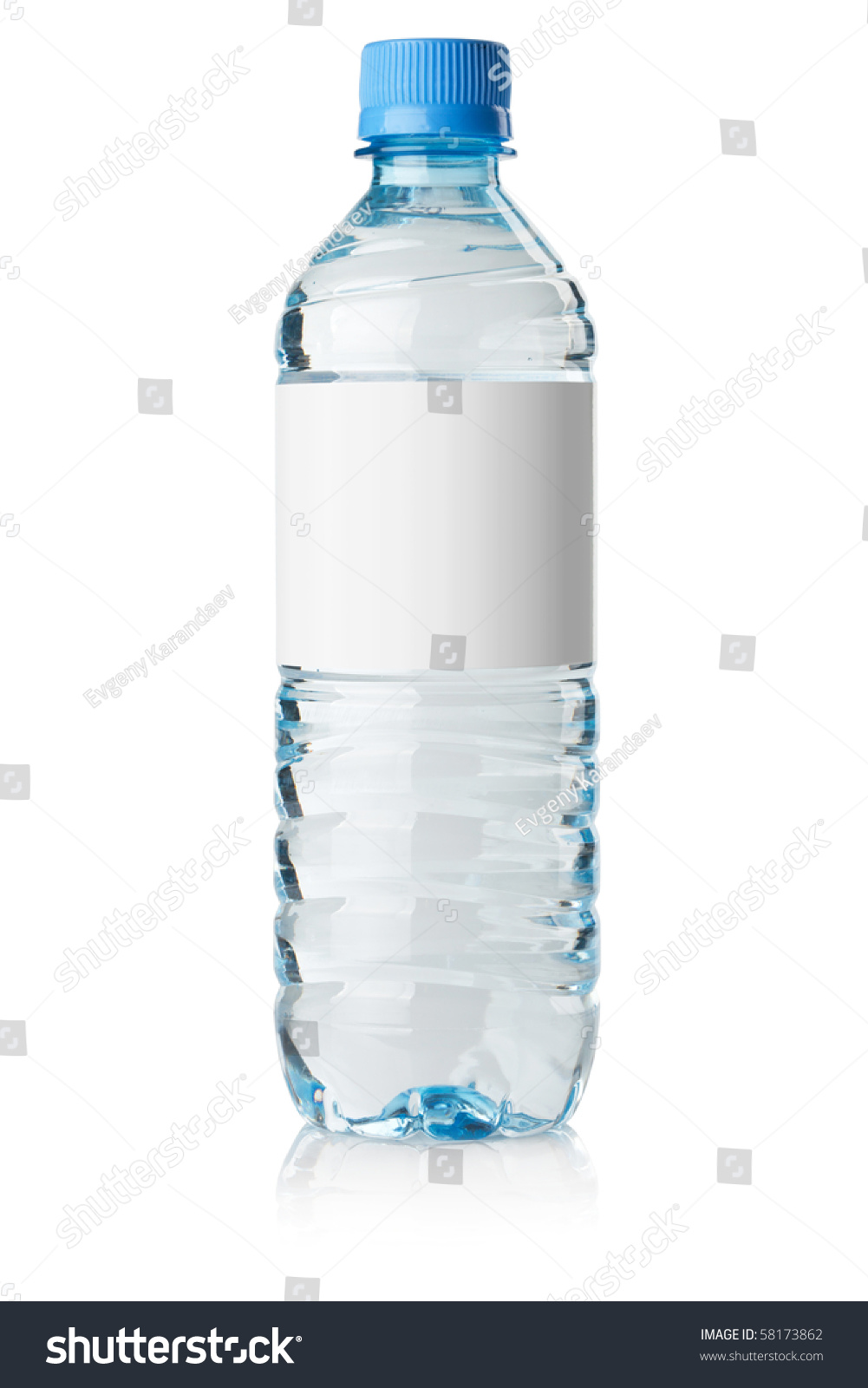 Soda Water Bottle Blank Label Isolated Stock Photo 58173862 ...