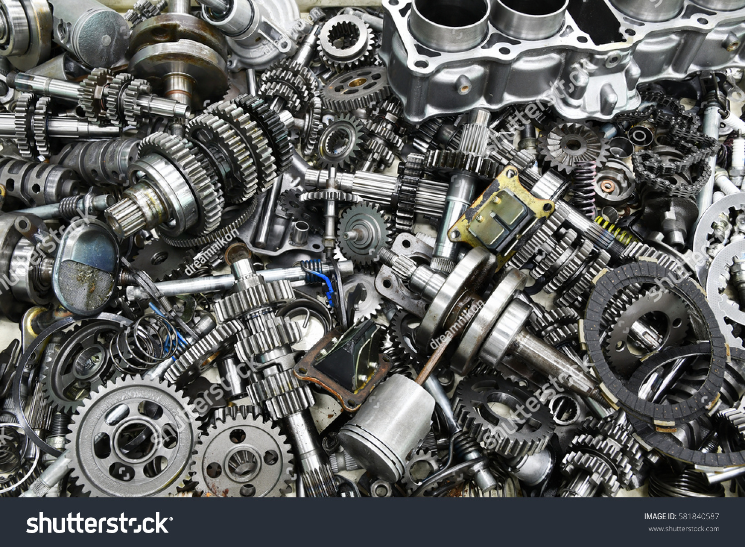 Motorcycle Engine Parts Stock Photo Edit Now 581840587 Shutterstock