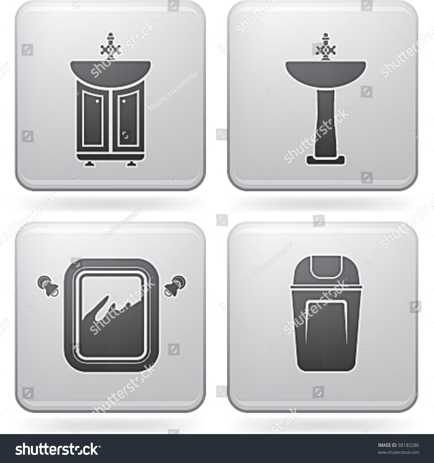 Bathroom appliances stock vector 58185286 shutterstock for Restroom appliances
