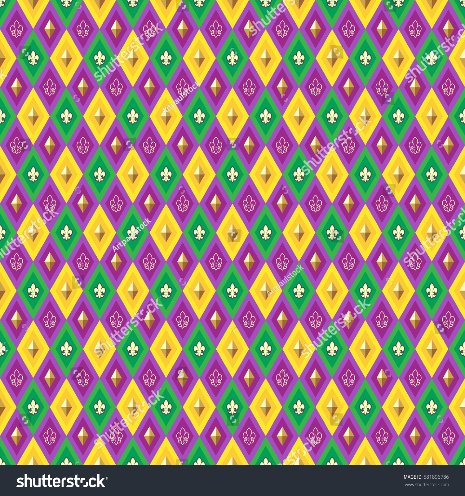 mardi gras background greeting cards textiles stock vector (royalty