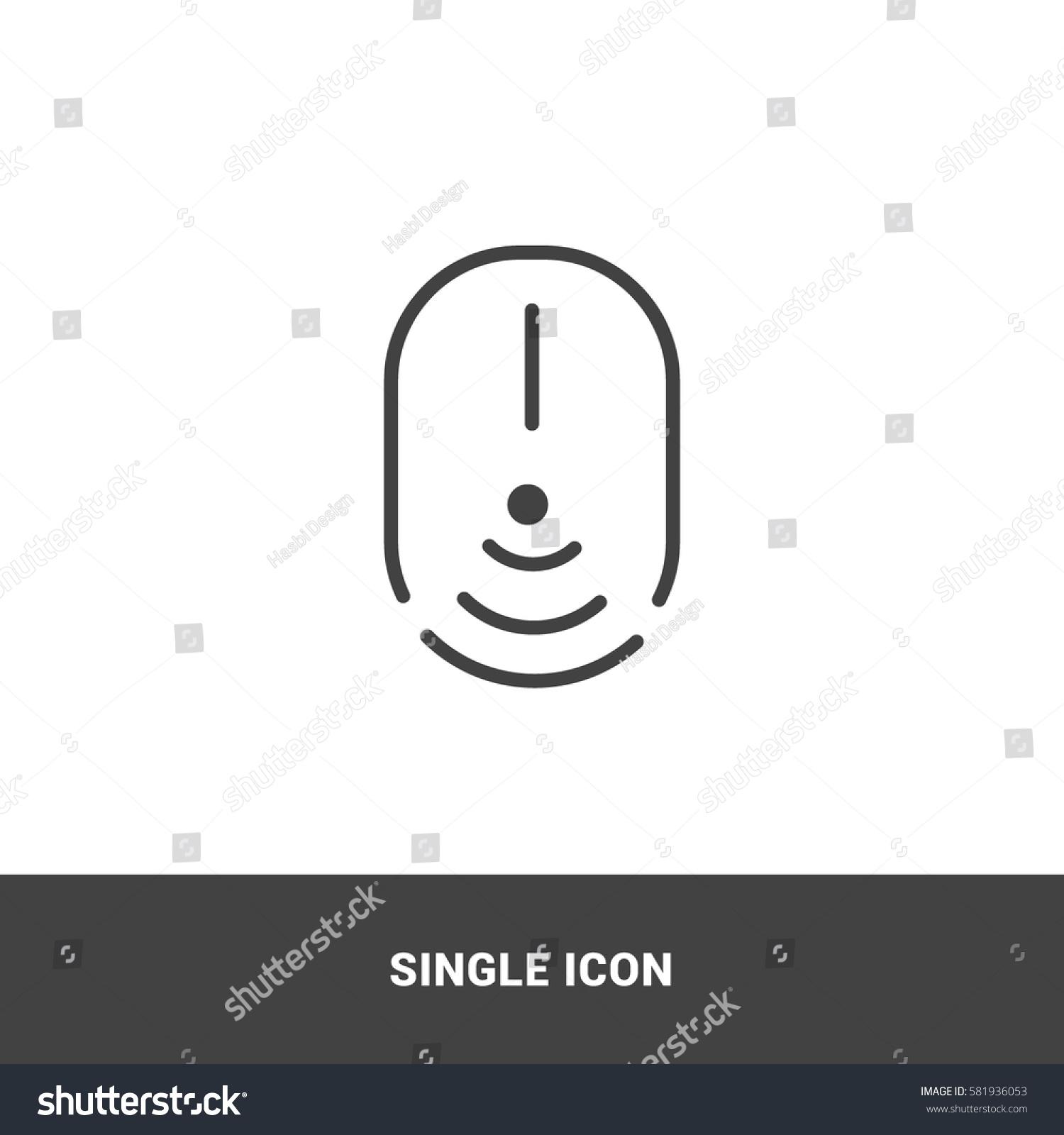 Icon Wireless Mouse Single Icon Graphic Stock Vector 581936053 ...