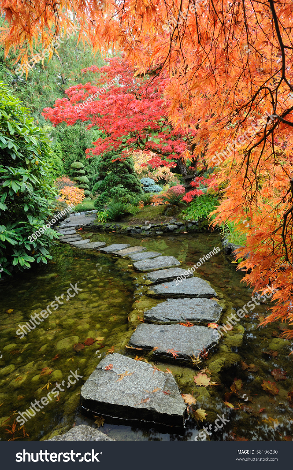 The Autumnal Look Of The Japanese Garden Inside The Famous Historic Butchart Gardens (Built In ...