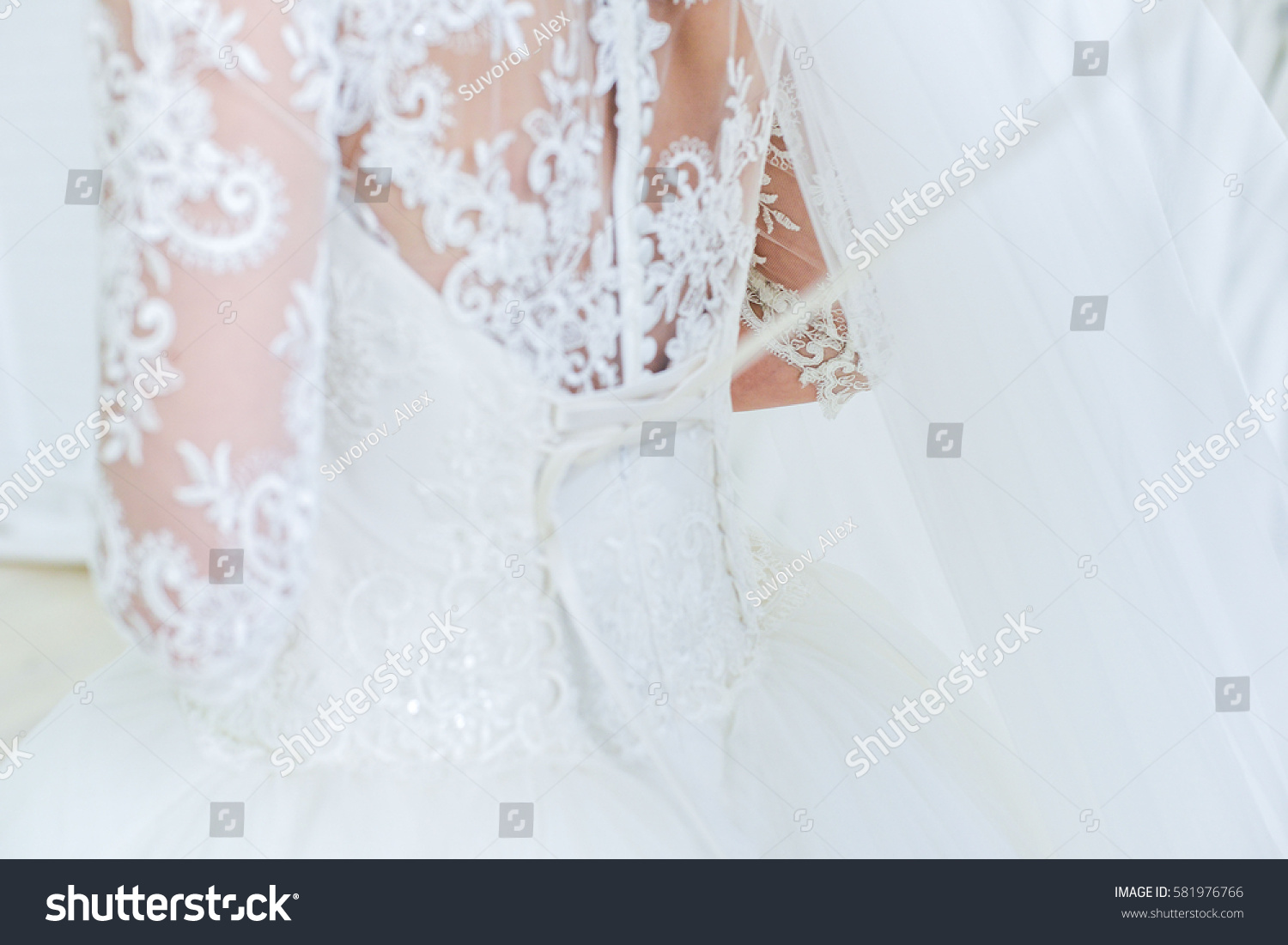 Garter on leg bride slim sexy stock photo 581976766 for Garter under wedding dress