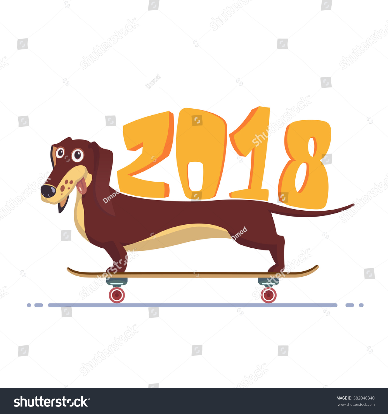 happy new year 2018 greeting card stock vector 582046840 shutterstock rh shutterstock com  chinese new year greeting card clipart