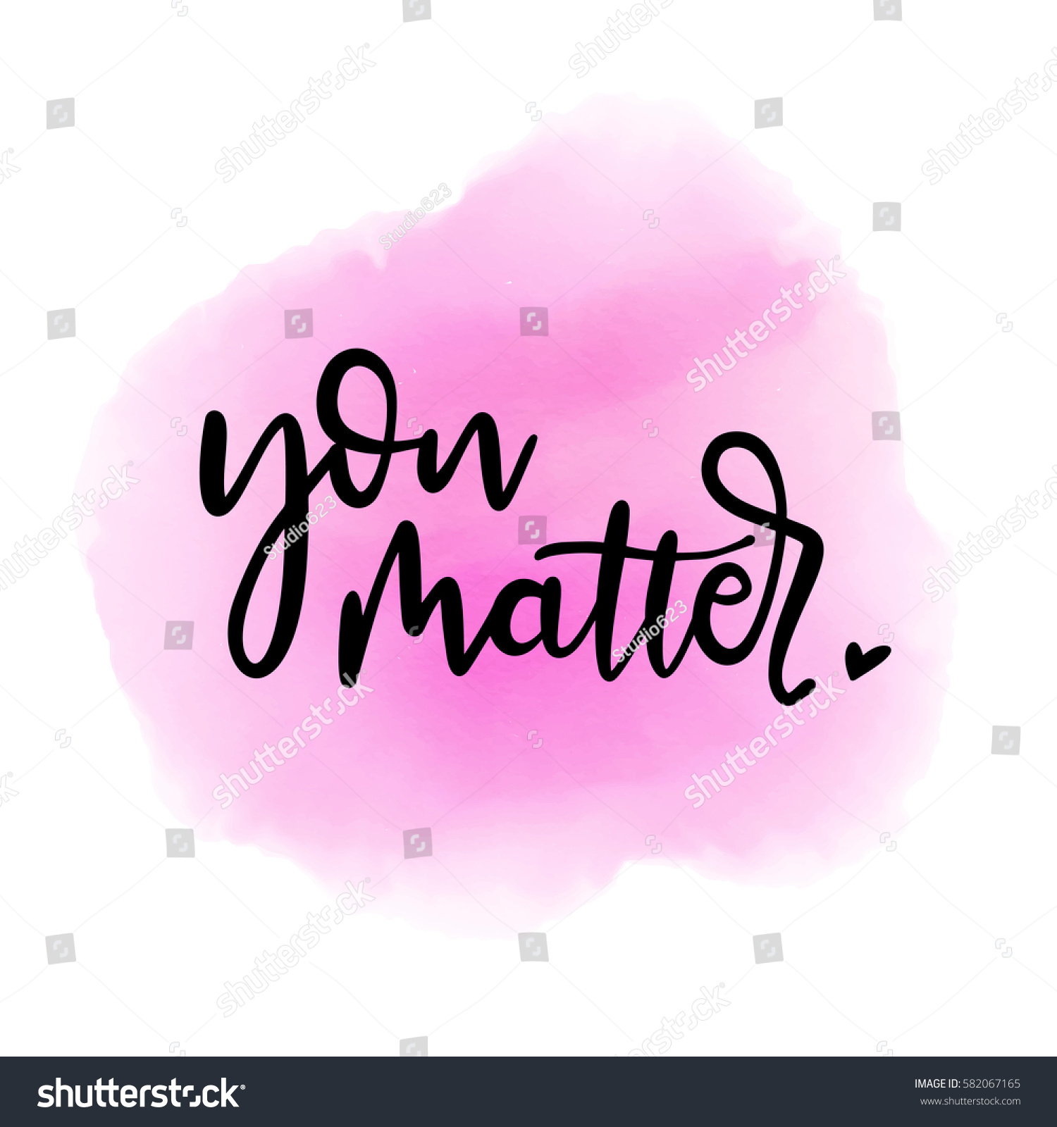 You Matter Lettering Love Quote Modern Stock Vector Royalty Free