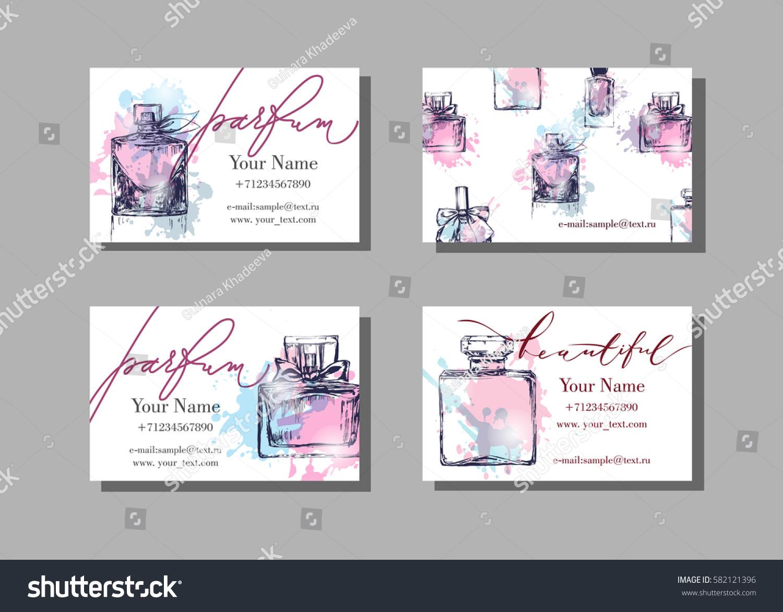 Makeup Artist Business Card Vector Template Stock Vector 582121396 ...