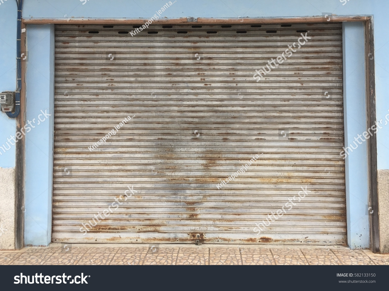 Old Steel Roll Door Warehouse