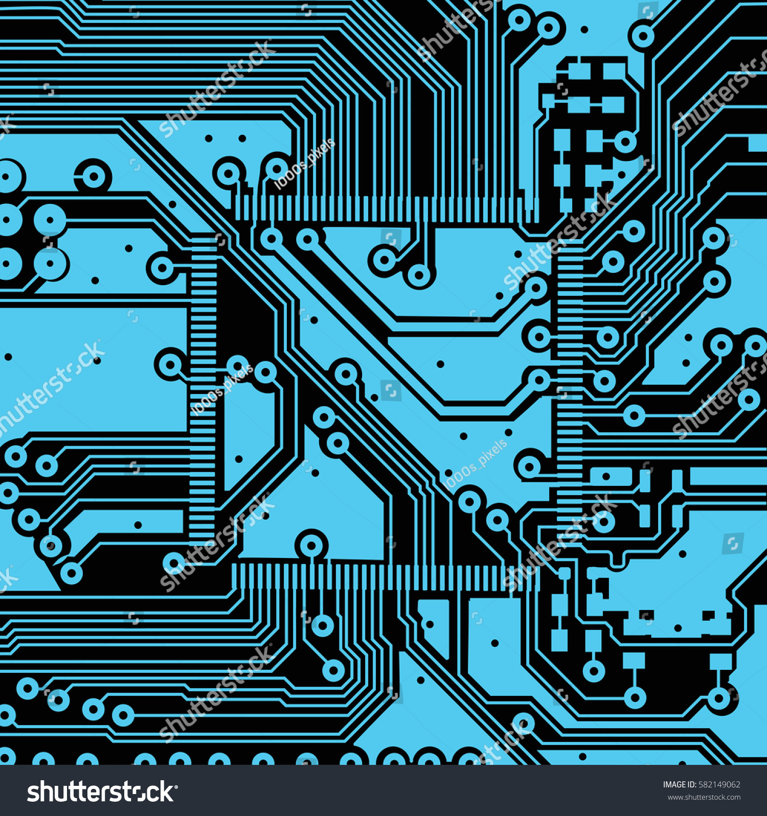 Circuit Board Vector Can Illustrate Any Stock Vector (Royalty Free ...