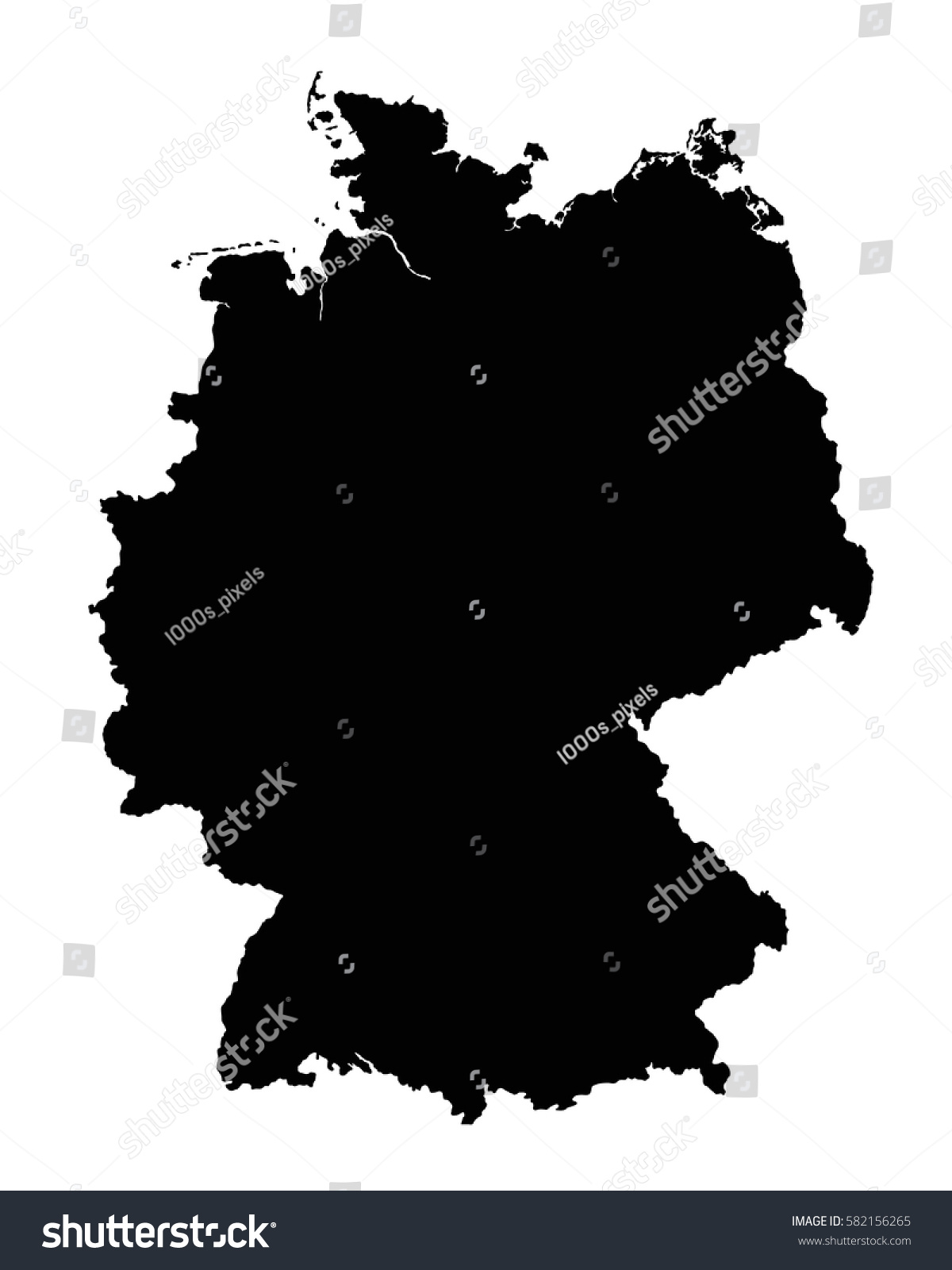 Germany Map Outline Vector Flag Stock Vector Shutterstock - Germany map outline