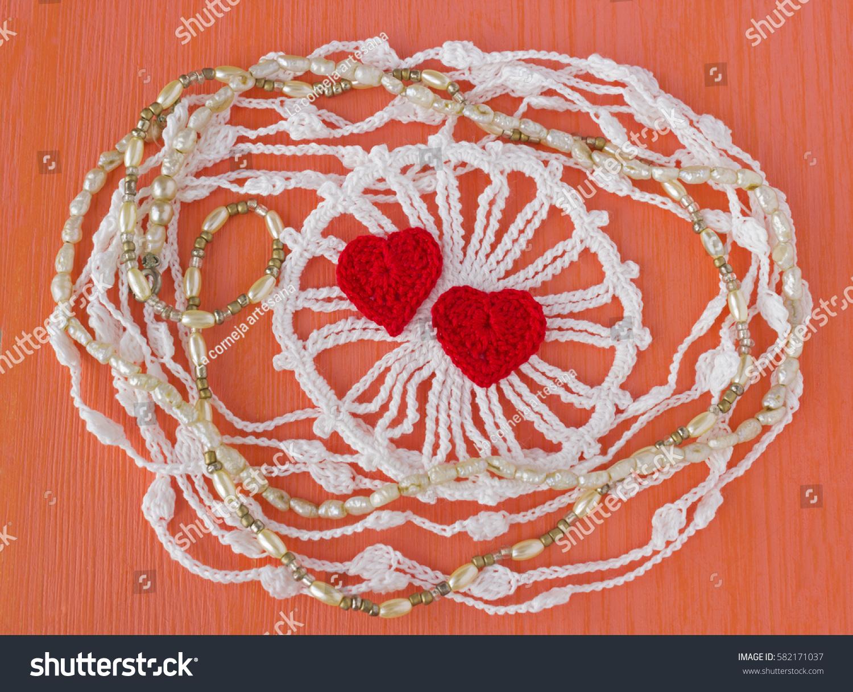 Handmade Crocheted Cotton Organic Lace Wreath Stock Photo Edit Now