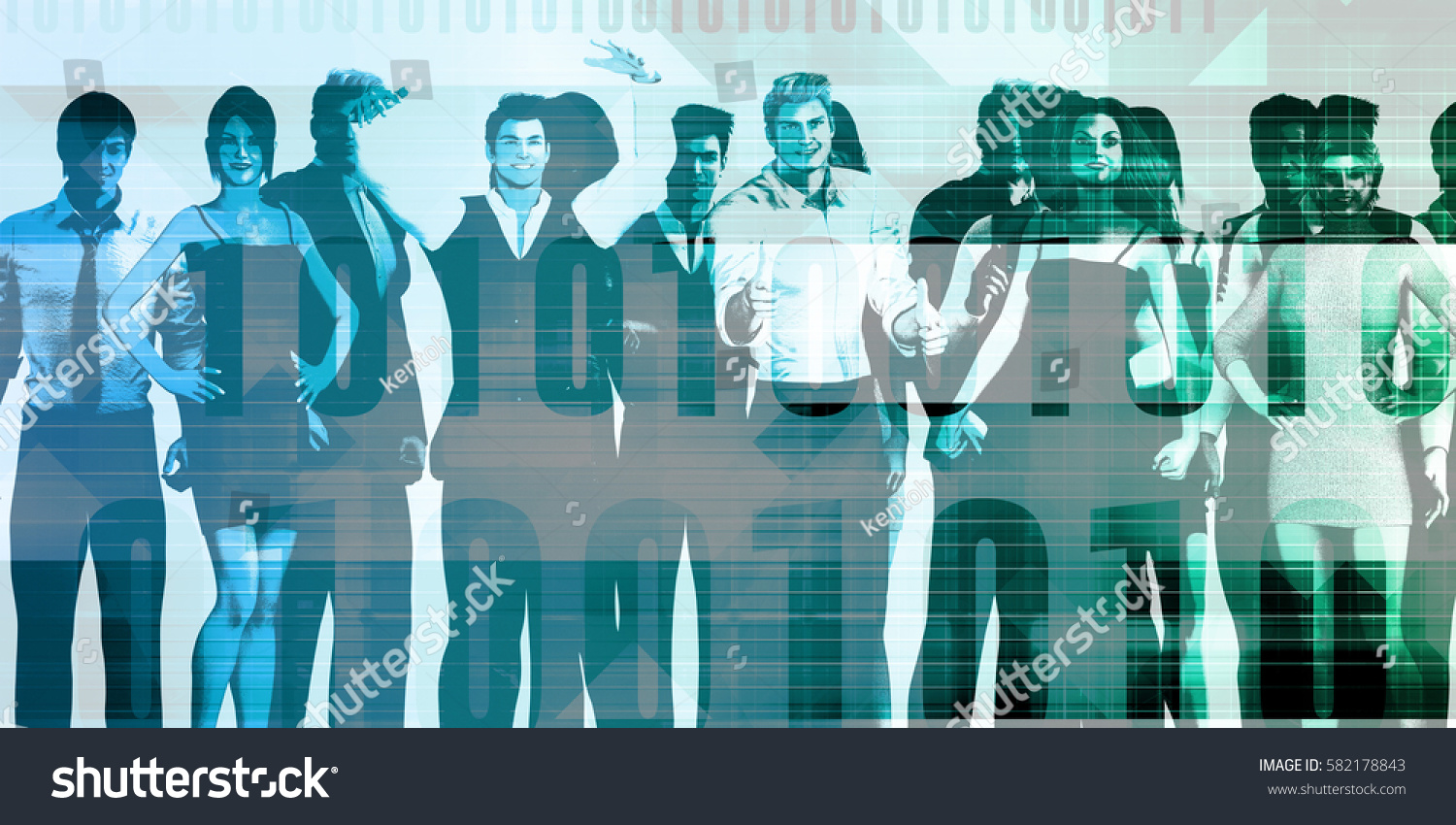 Business People Group Standing Together Unity Stock Illustration