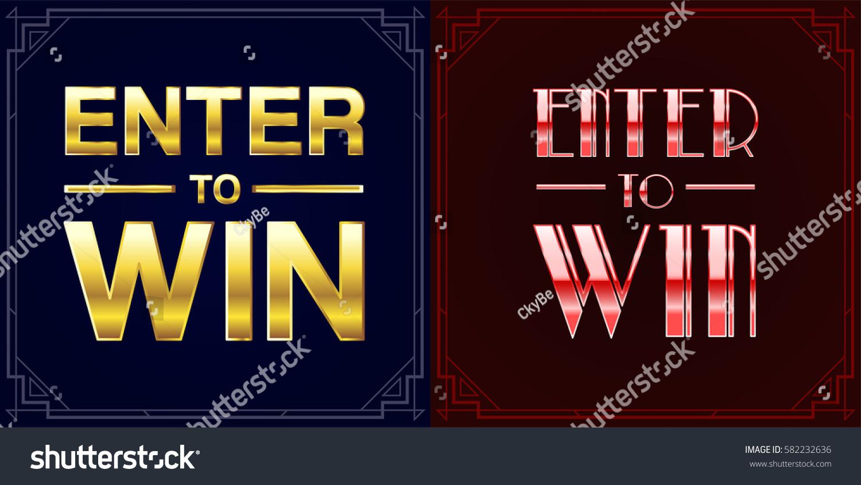 Set Enter Win Sweepstakes Vector Signs Stock Vector 582232636 ...