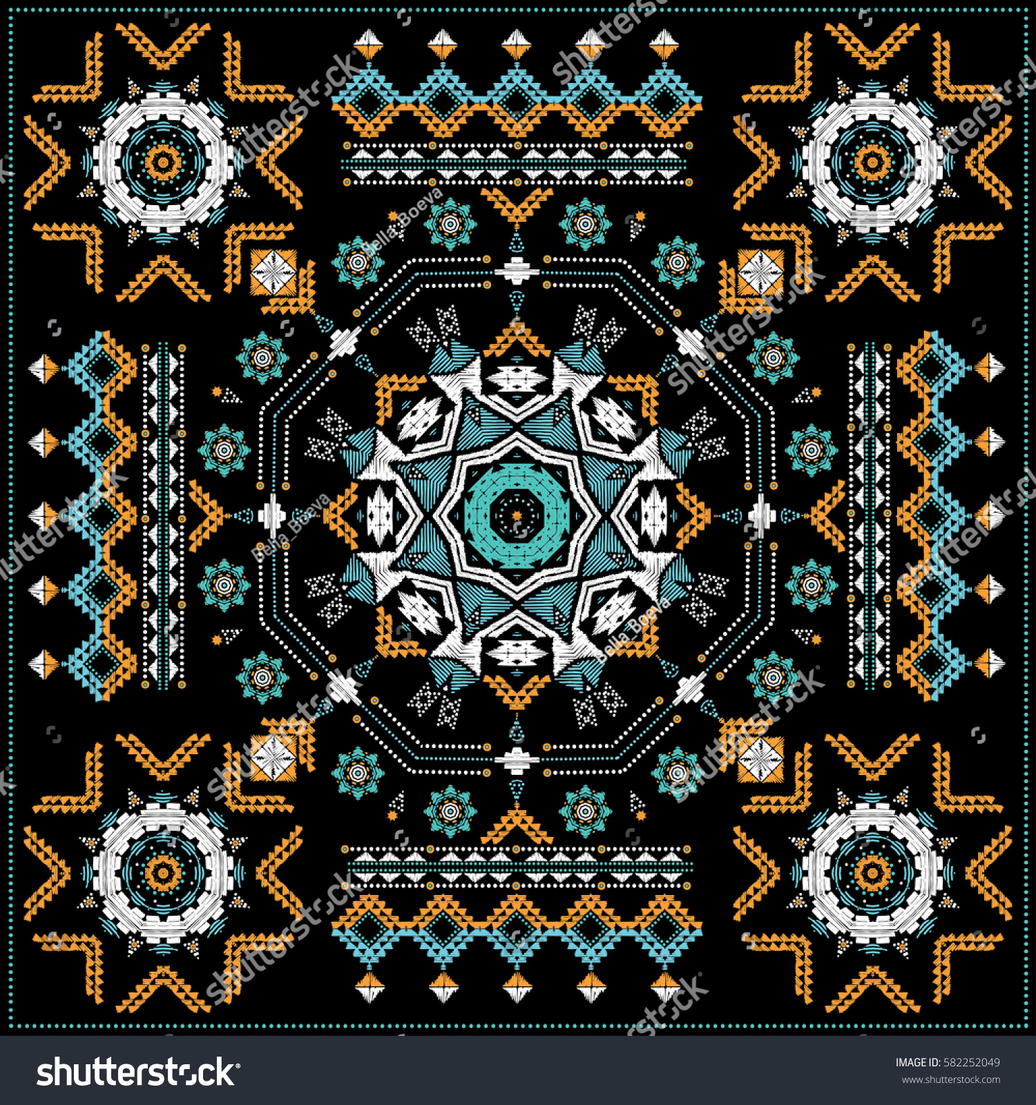 Traditional North American Indian Carpet Vintage Stock