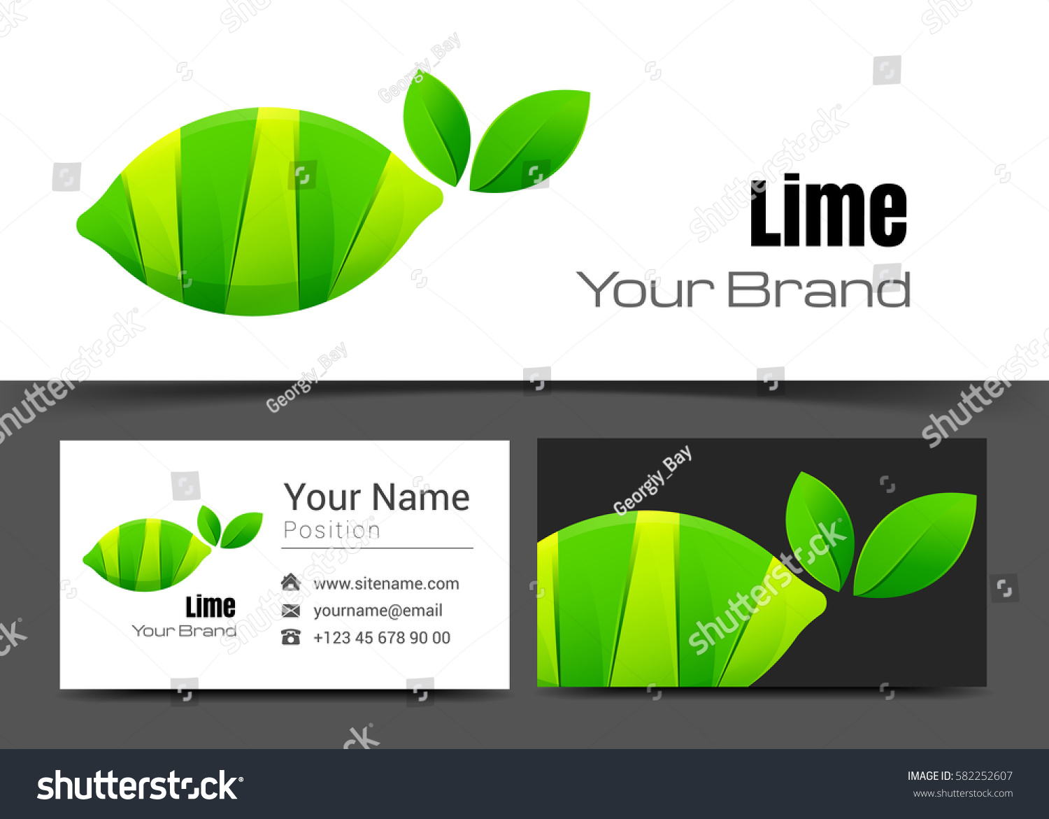 Lime corporate logo business card sign stock vector 582252607 lime corporate logo and business card sign template creative design with colorful logotype visual identity magicingreecefo Images
