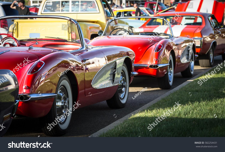 Toronto June 11 Row Classic Cars Stock Photo 582254431 - Shutterstock