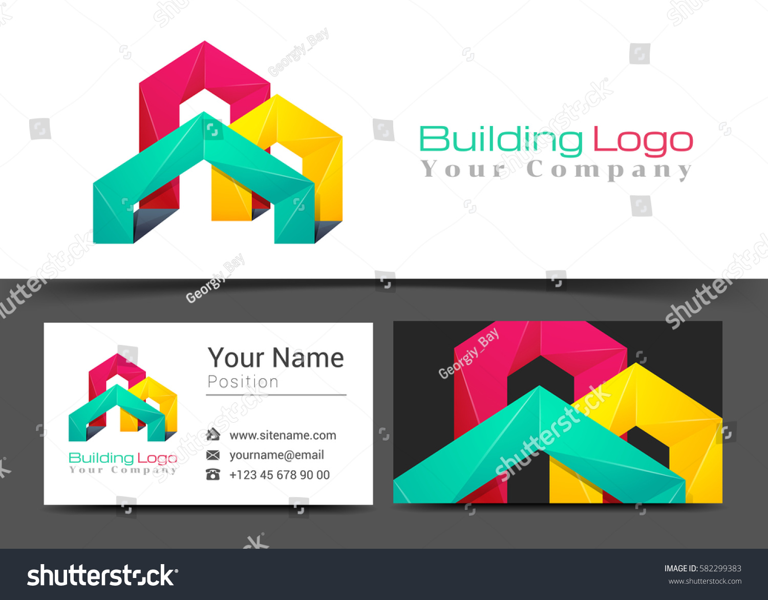 Building Corporate Logo Business Card Sign Stock Vector 582299383 ...