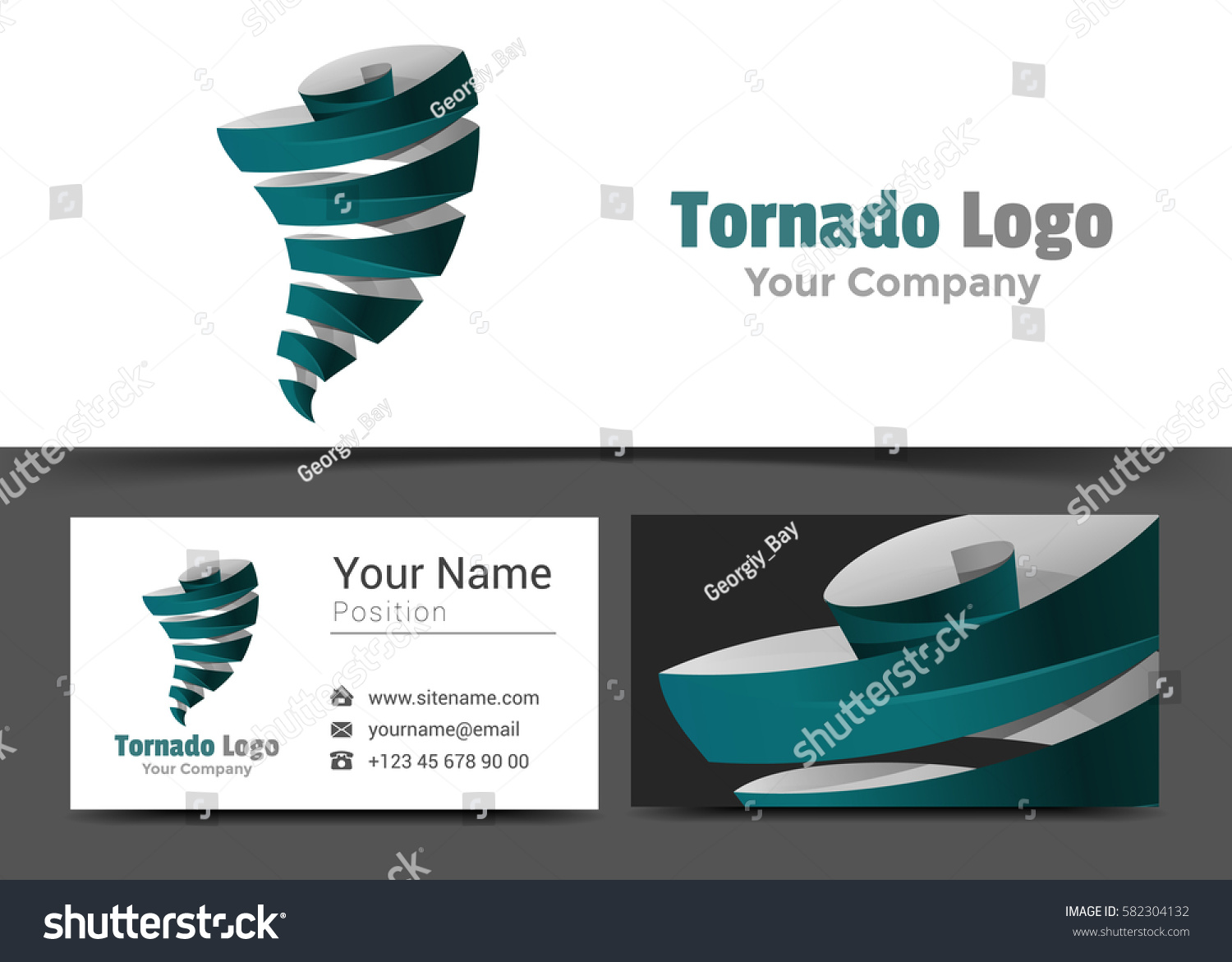 Tornadoes corporate logo business card sign stock vector 582304132 tornadoes corporate logo and business card sign template creative design with colorful logotype visual identity magicingreecefo Images