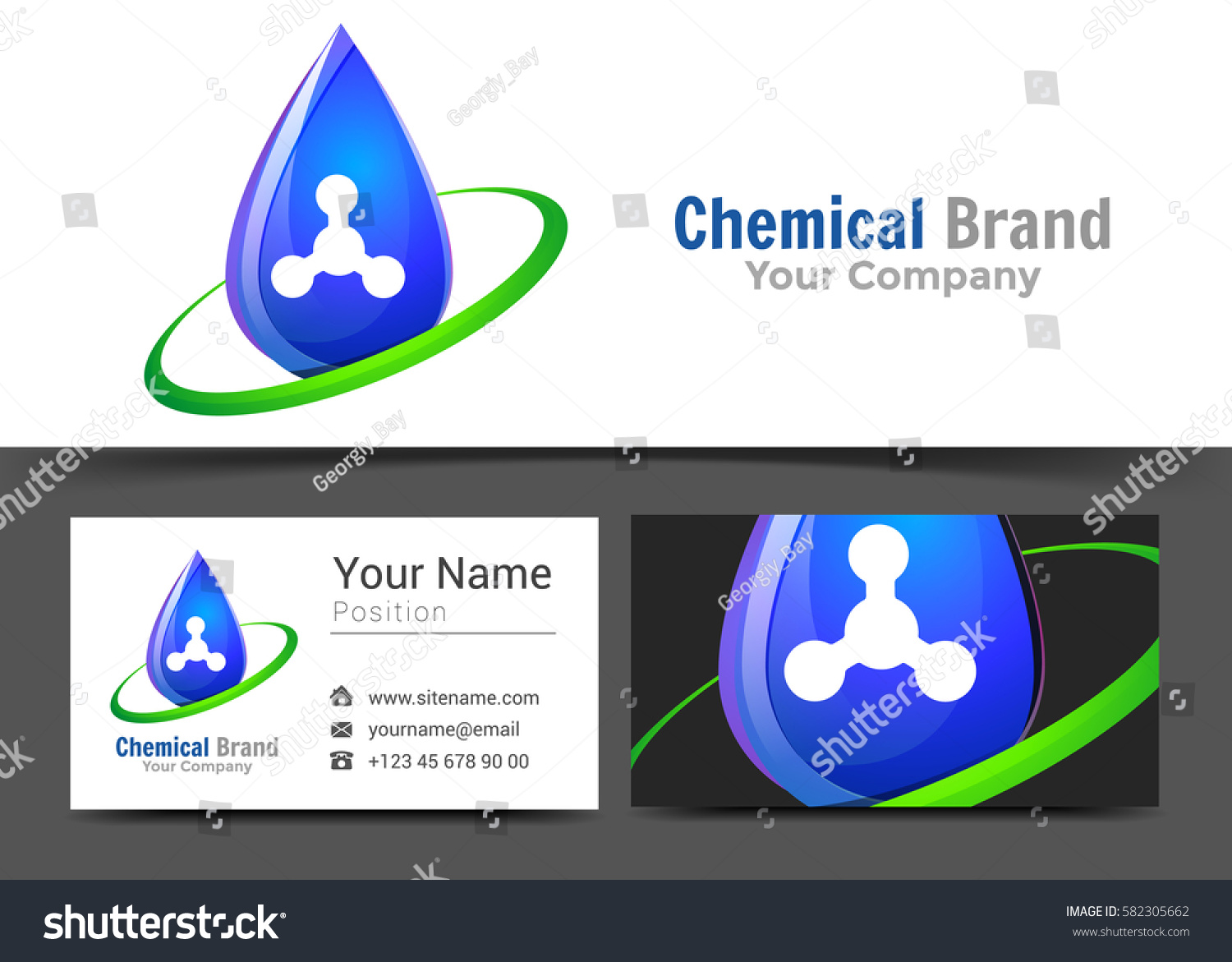 Drop Clean Water Corporate Logo Business Stock Vector 582305662 ...