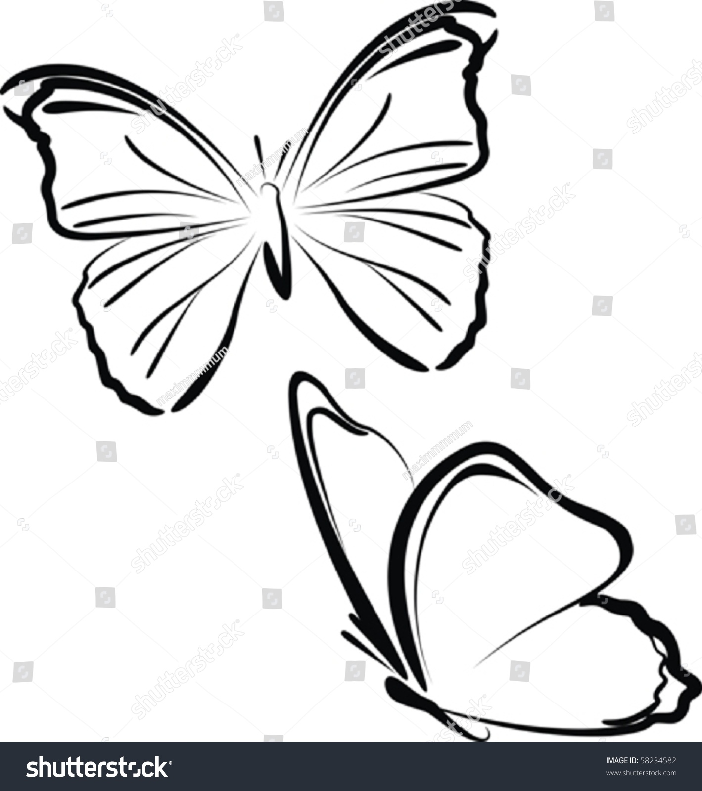 butterfly-flying-drawings