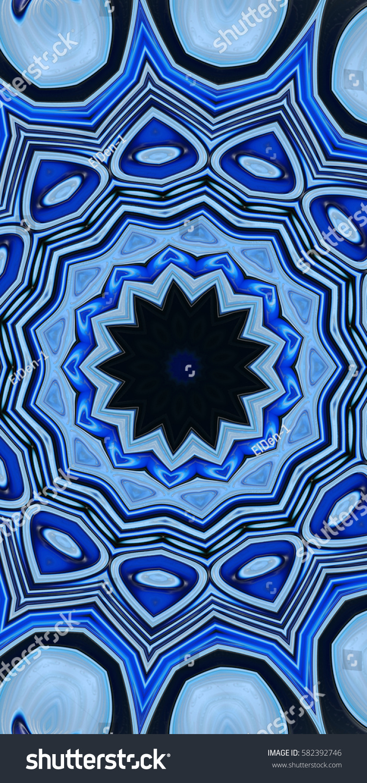 Modern Floral Pattern Decorative Dram Fantasy Stock Illustration