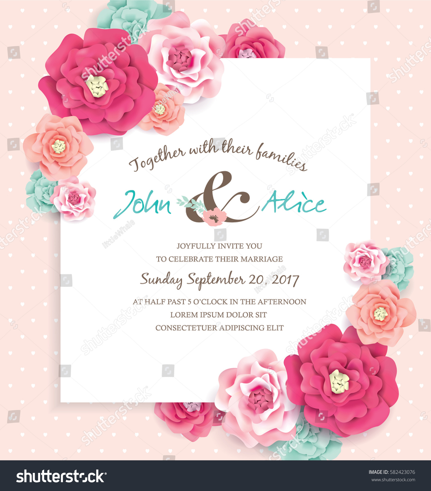save date design template beautiful blossom stock vector 582423076