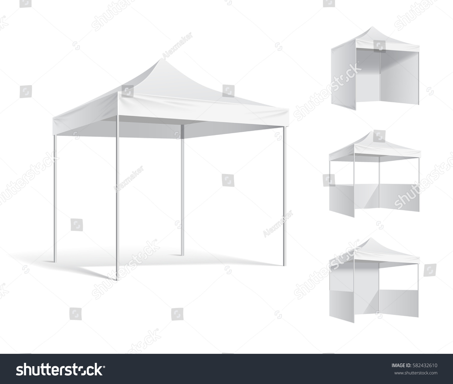 advertising outdoor event trade show pop up stock vector royalty