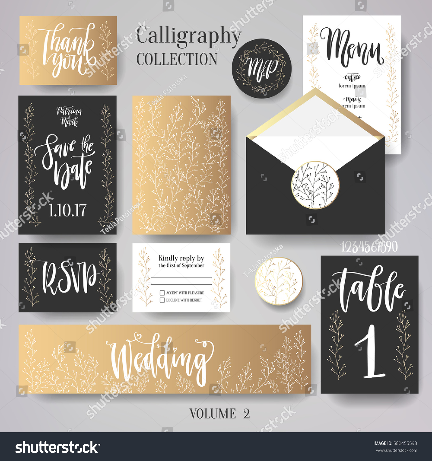 Wedding Cards Collection Set Include Invitation Template Banner And Envelope