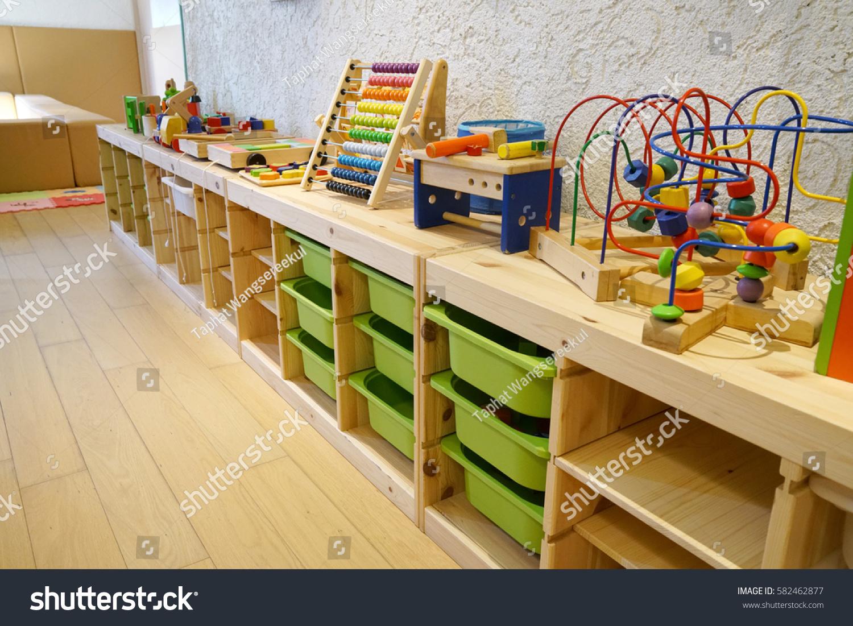 Montessori Material Kindergarten Preschool Classroom Interior ...