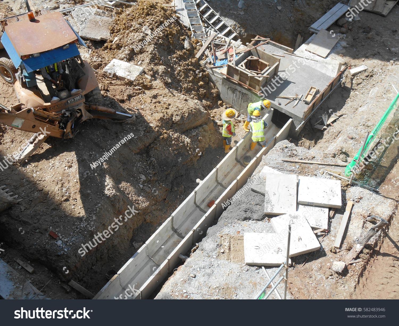 Underground Concrete Building : Seremban malaysia february underground stock photo