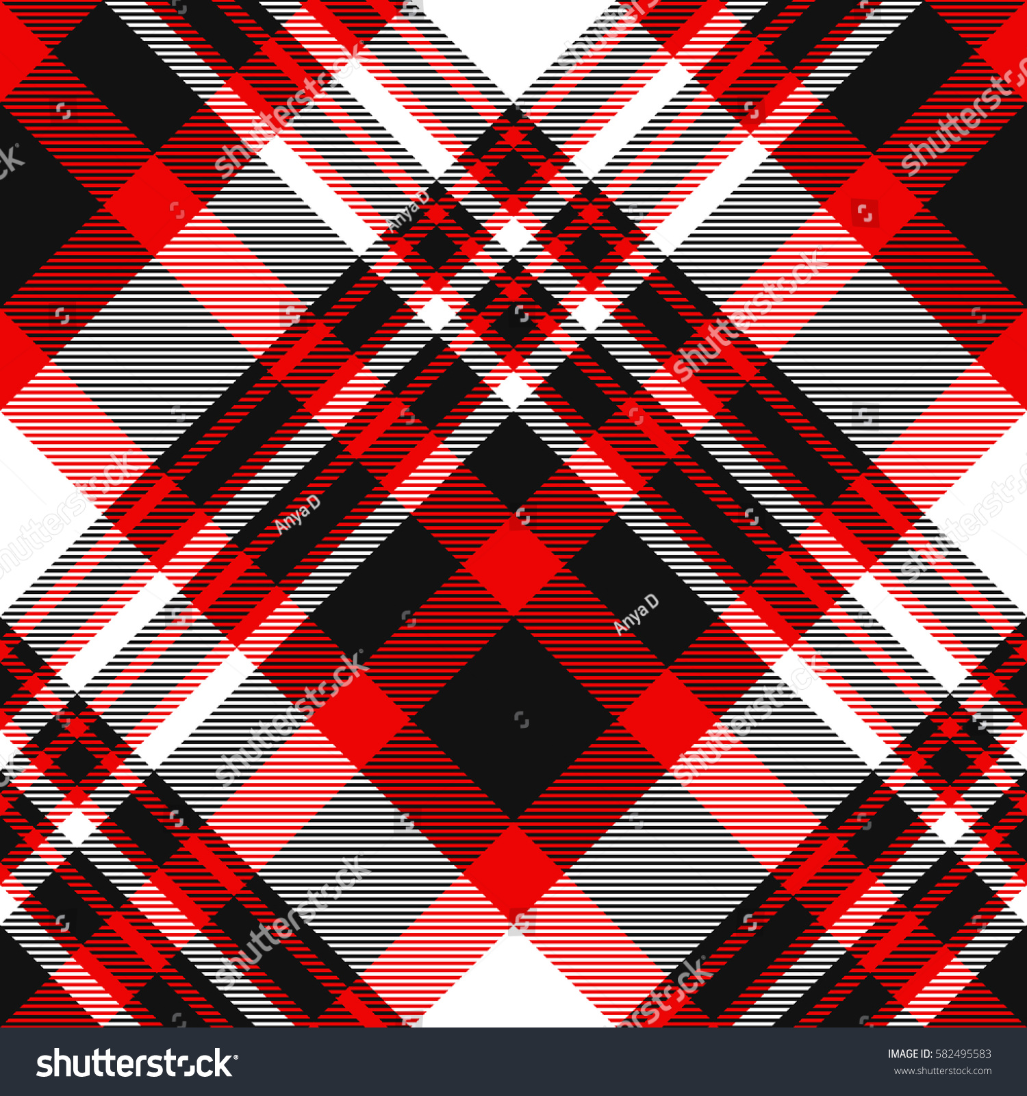 seamless tartan plaid pattern checkered fabric stock vector royalty