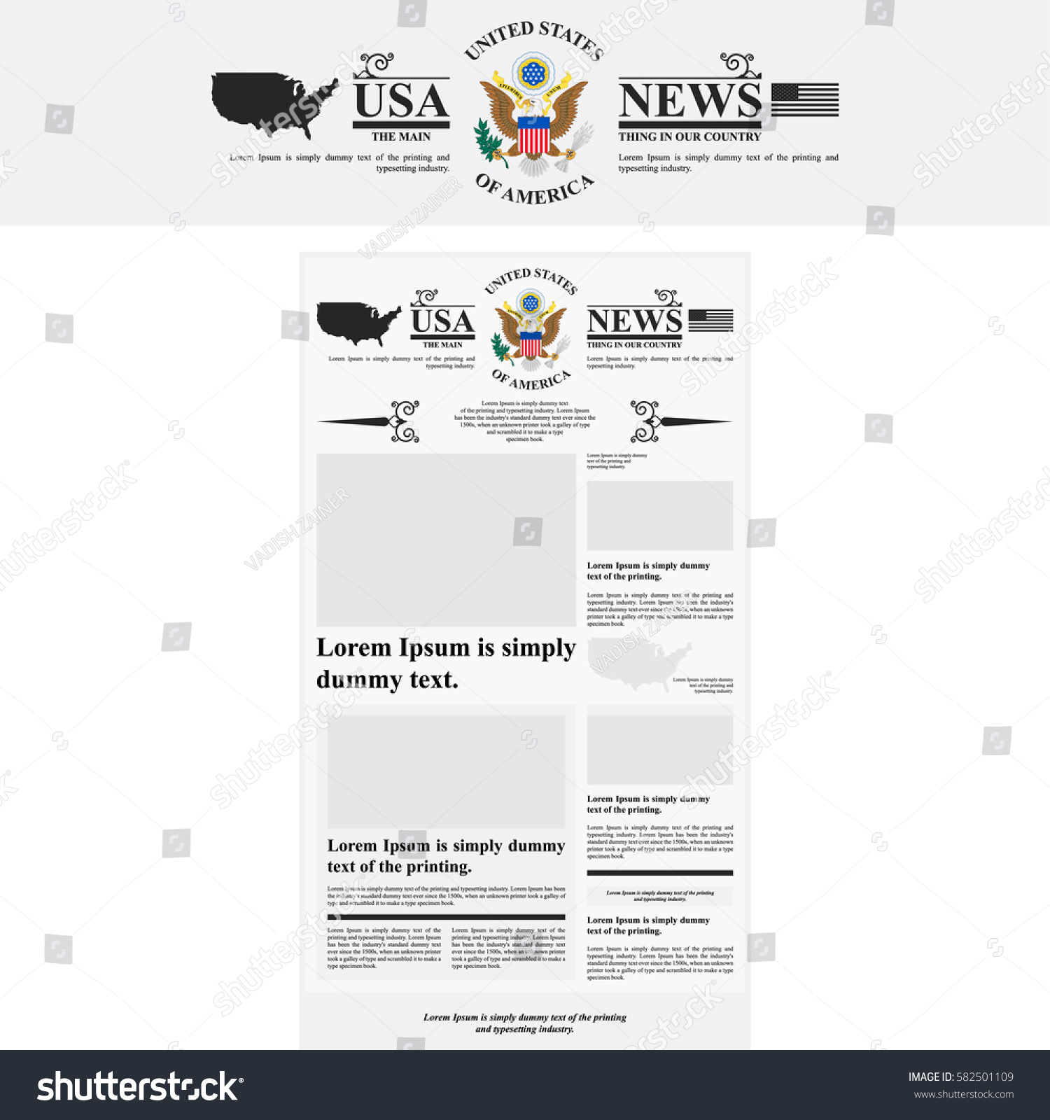 united states template
