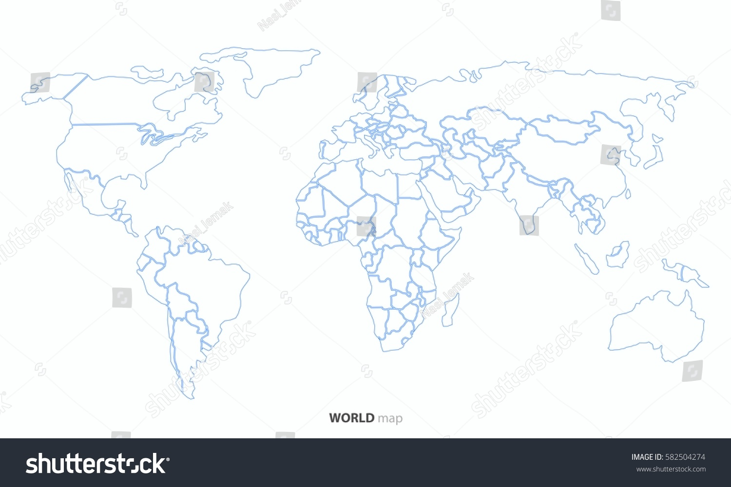 World map outline country graphic vector vectores en stock 582504274 world map outline country graphic vector gumiabroncs Images