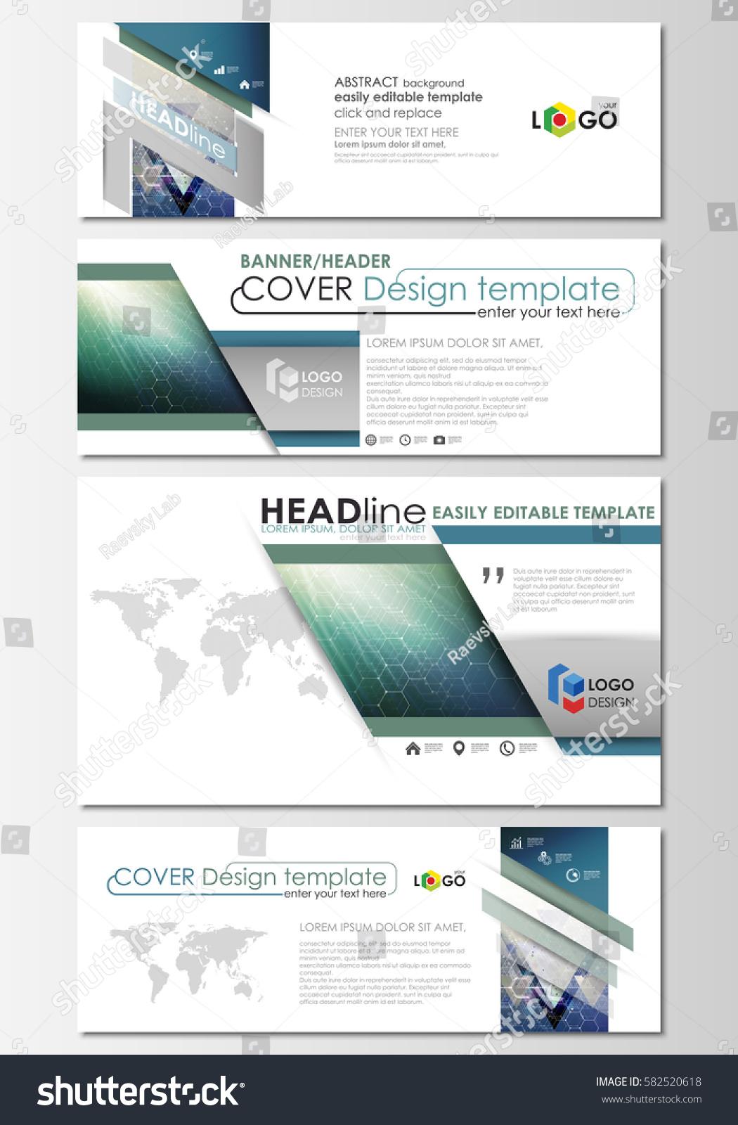 Social media email headers set modern stock vector 582520618 social media and email headers set modern banners business templates abstract design template altavistaventures Images