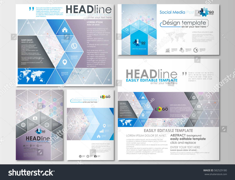 social media posts set business templates stock vector 582529180 shutterstock. Black Bedroom Furniture Sets. Home Design Ideas
