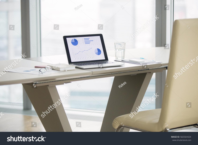 laptop graphs on screen on white stock photo 582564424 - shutterstock