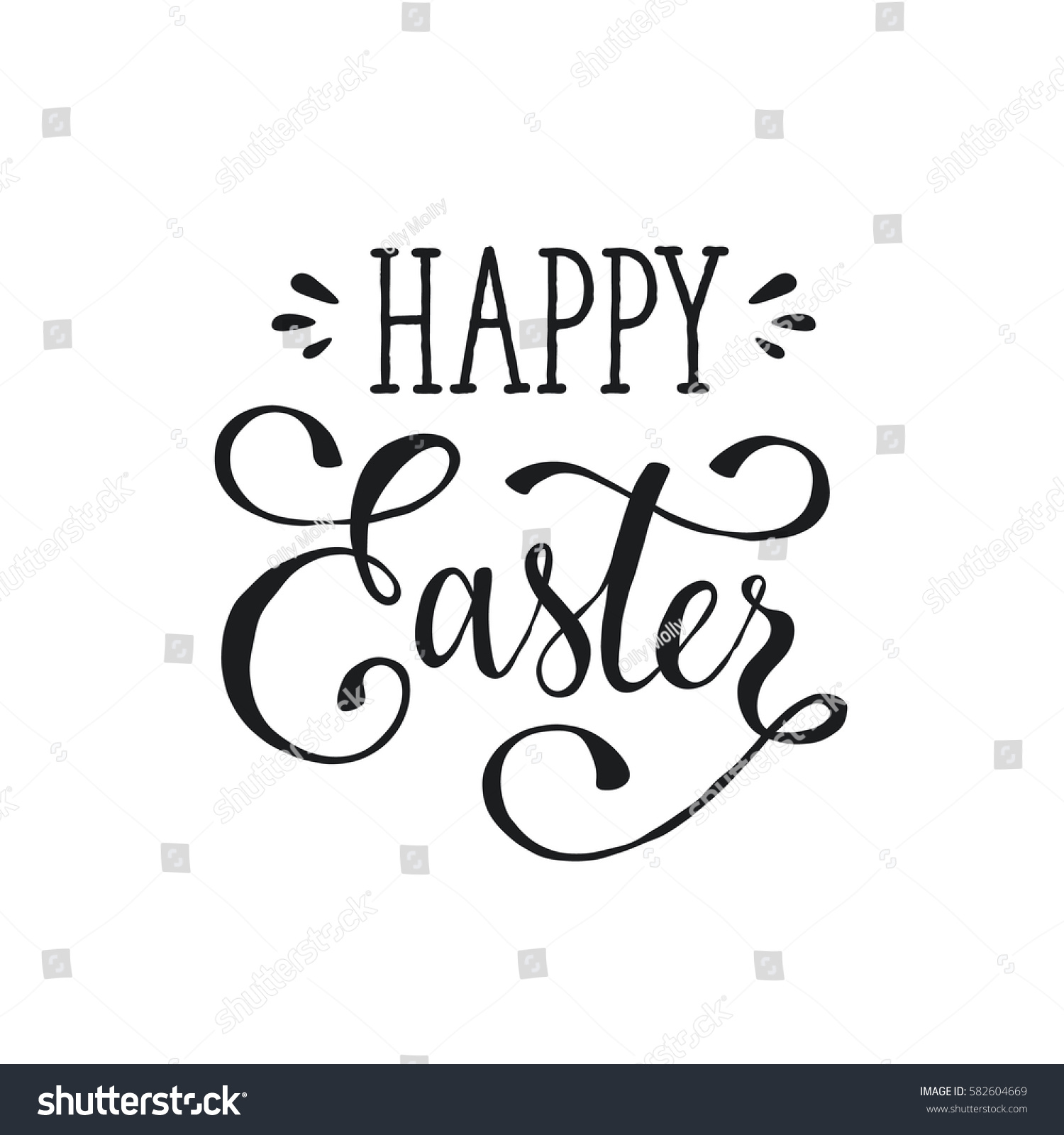 Hand written easter phrase greeting card stock vector royalty free hand written easter phrase greeting card text template isolated on white background happy easter m4hsunfo