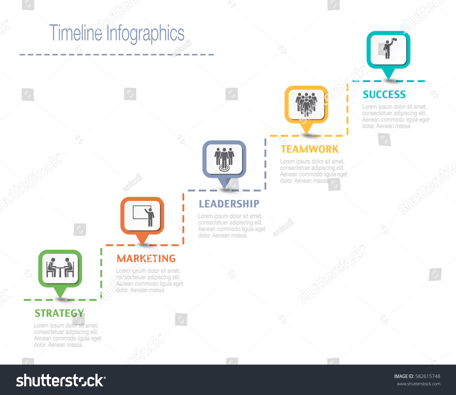business overview visualization timeline infographic data stock