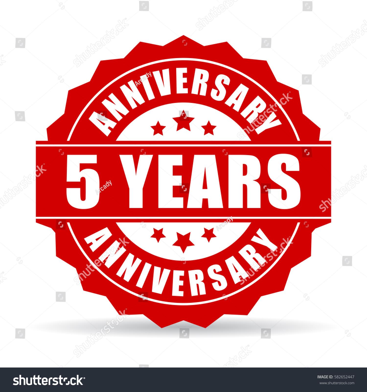 Five years anniversary celebration vector icon stock vector five years anniversary celebration vector icon biocorpaavc Choice Image