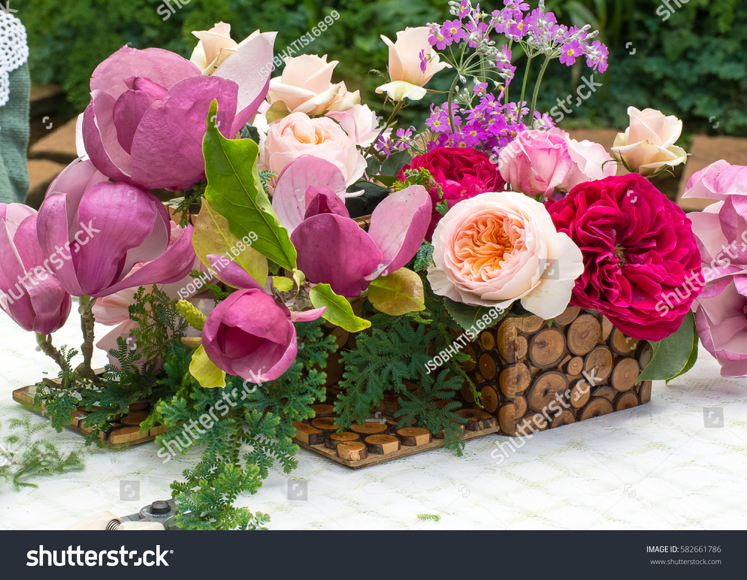 Beautiful Flower Arrangement On Table Some Stock Photo Royalty Free
