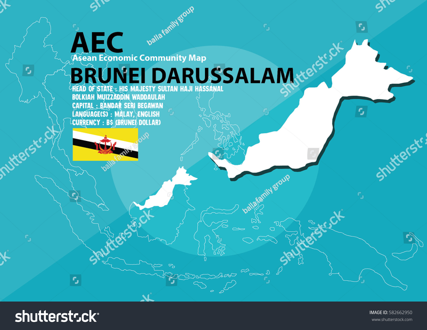 Brunei darussalam world map brunei darussalam stock vector brunei darussalam world map brunei darussalam are in southeast asia and in aec group gumiabroncs Image collections