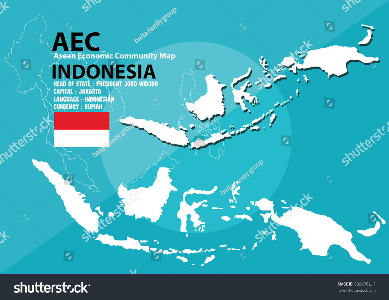 Indonesia world map indonesia southeast asia stock photo photo indonesia world map indonesia are in southeast asia and in aec group gumiabroncs Images