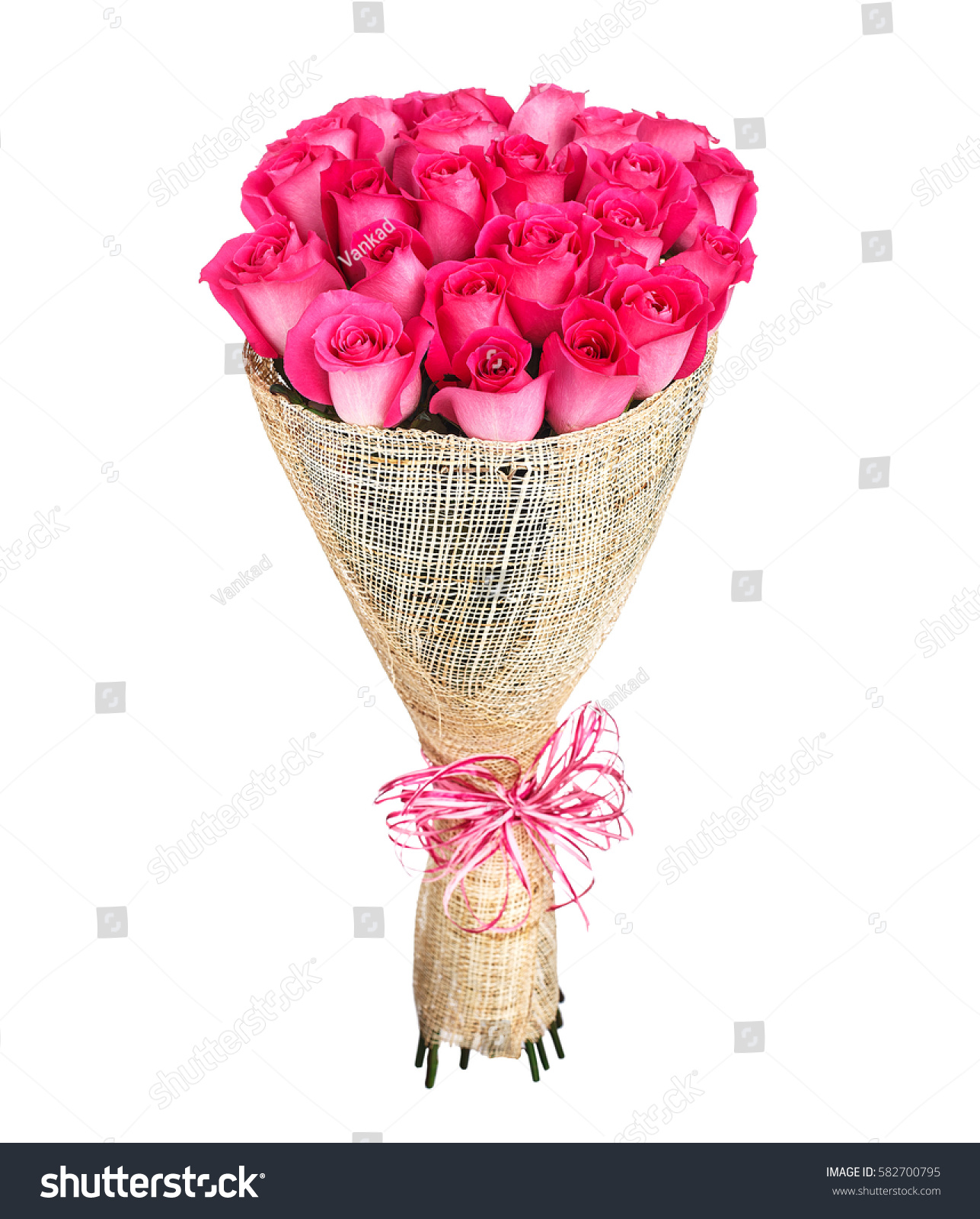 Flower Bouquet Pink Roses Stock Photo Edit Now 582700795