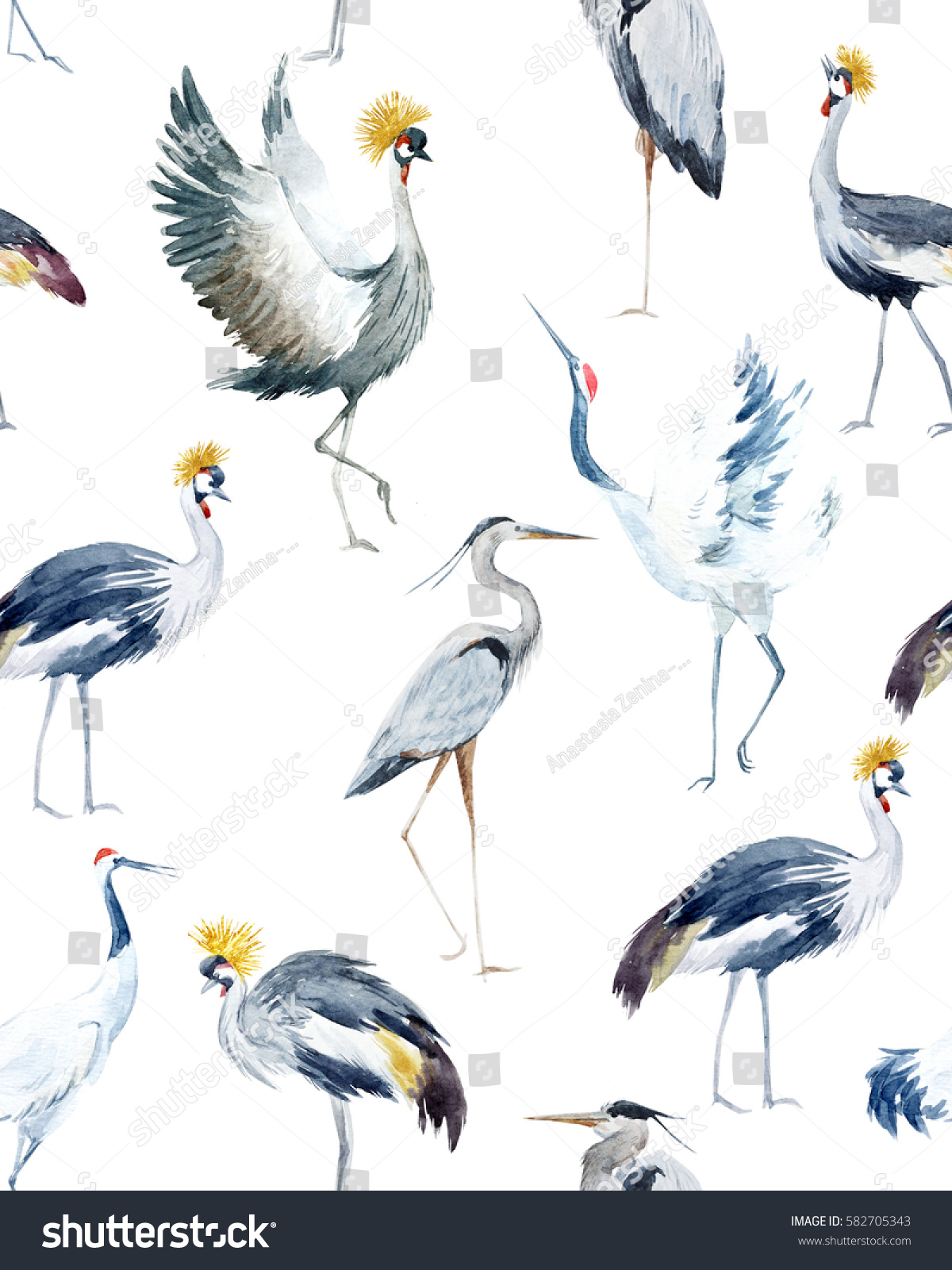 Royalty Free Stock Illustration Of Water Color Pattern Birds African