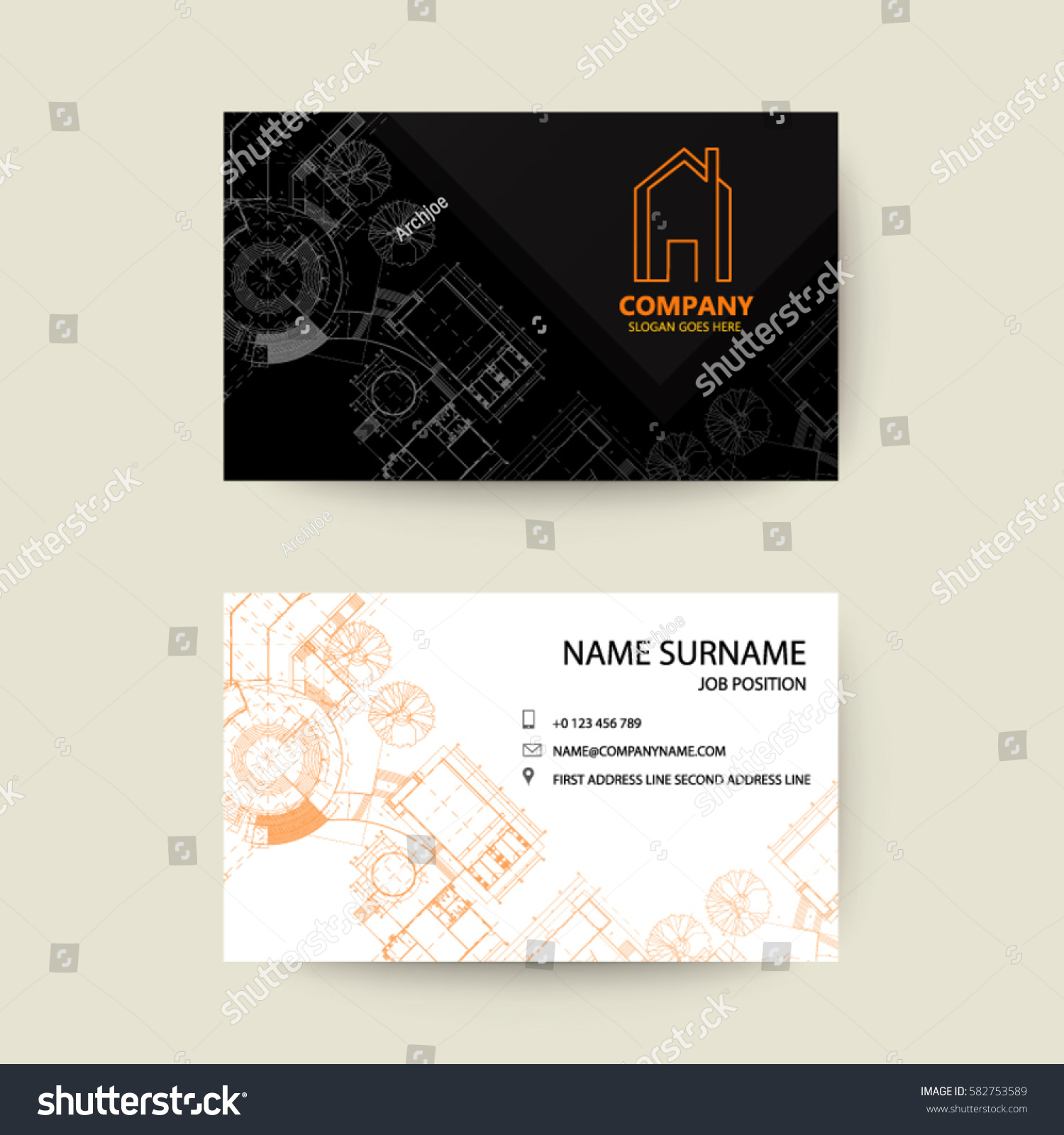 eps10 vector illustration abstract elegant business stock vector