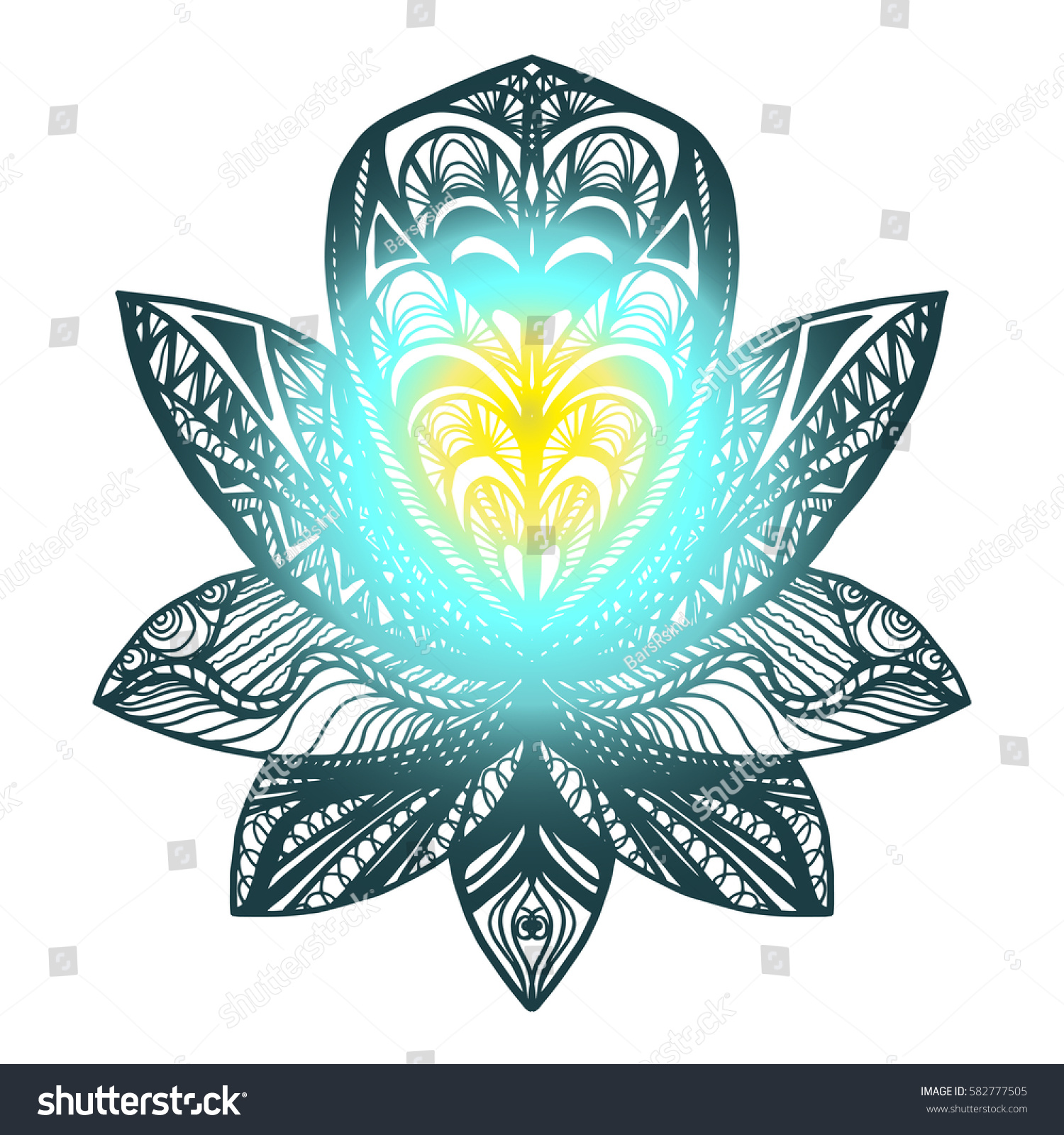 Flower lotus magic symbol print tattoo stock vector hd royalty free flower lotus magic symbol for print tattoo coloring bookfabric t izmirmasajfo