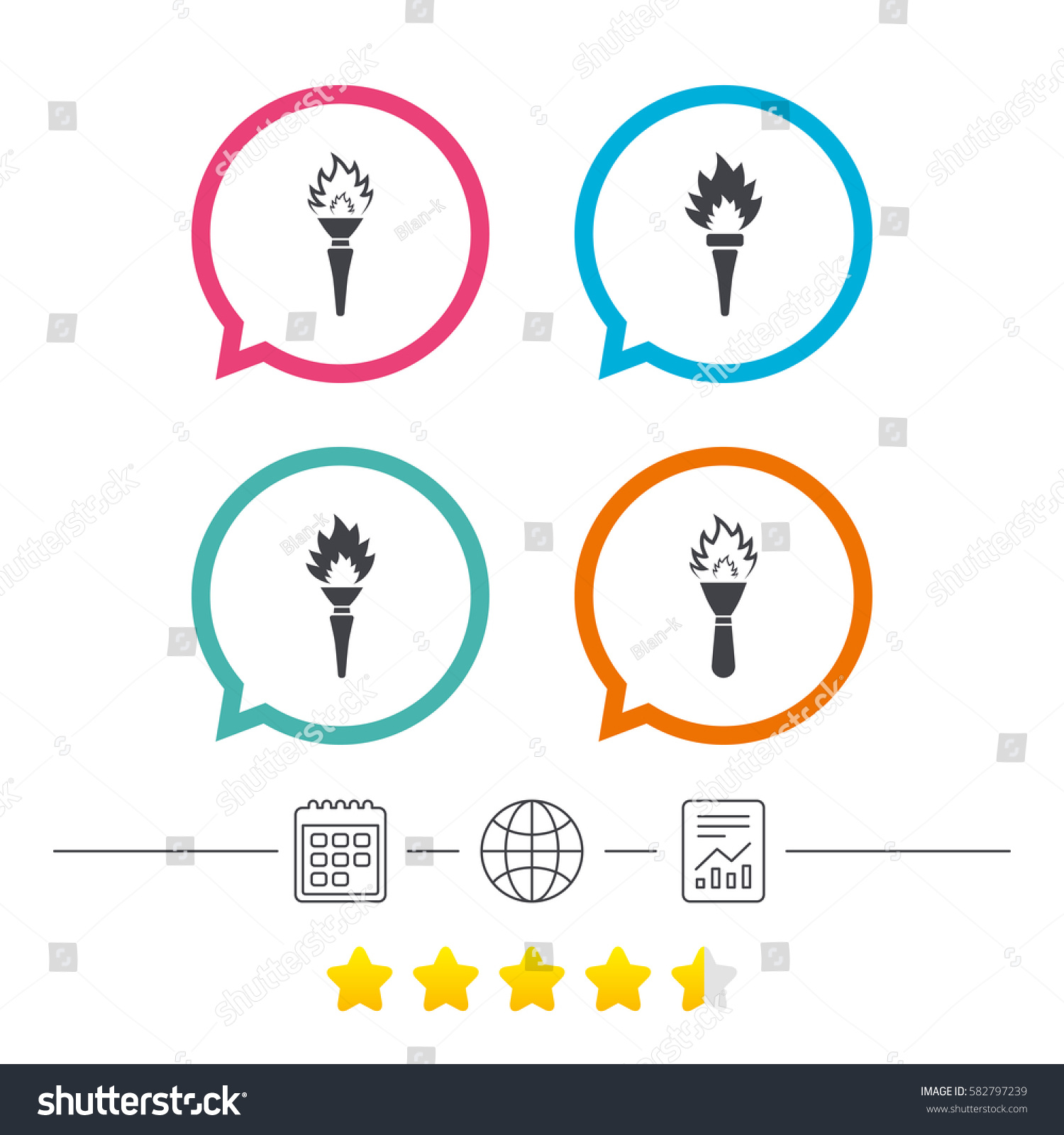 Torch flame icons. Fire flaming symbols. Hand tool which provides light or heat.  sc 1 st  Shutterstock & Torch Flame Icons Fire Flaming Symbols Stock Vector 582797239 ... azcodes.com